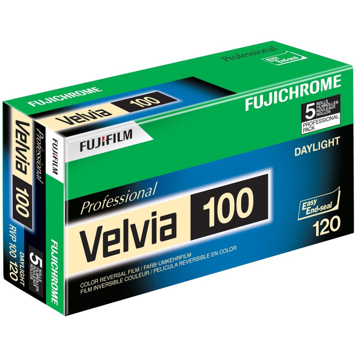 Fujifilm Velvia 100 120 5er-Pack