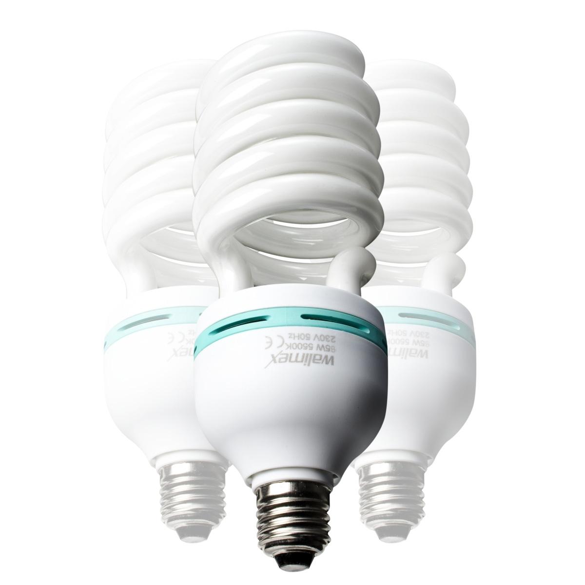 3x Walimex Spiral-Tageslichtlampe 85 W, 3er Set
