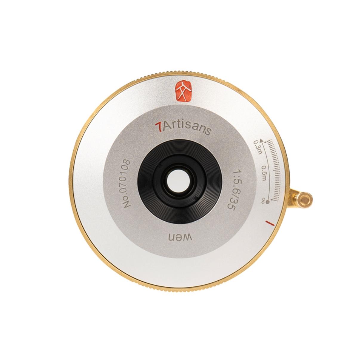 7Artisans 35 mm 1:5,6 WEN Pancake für Leica M Silber