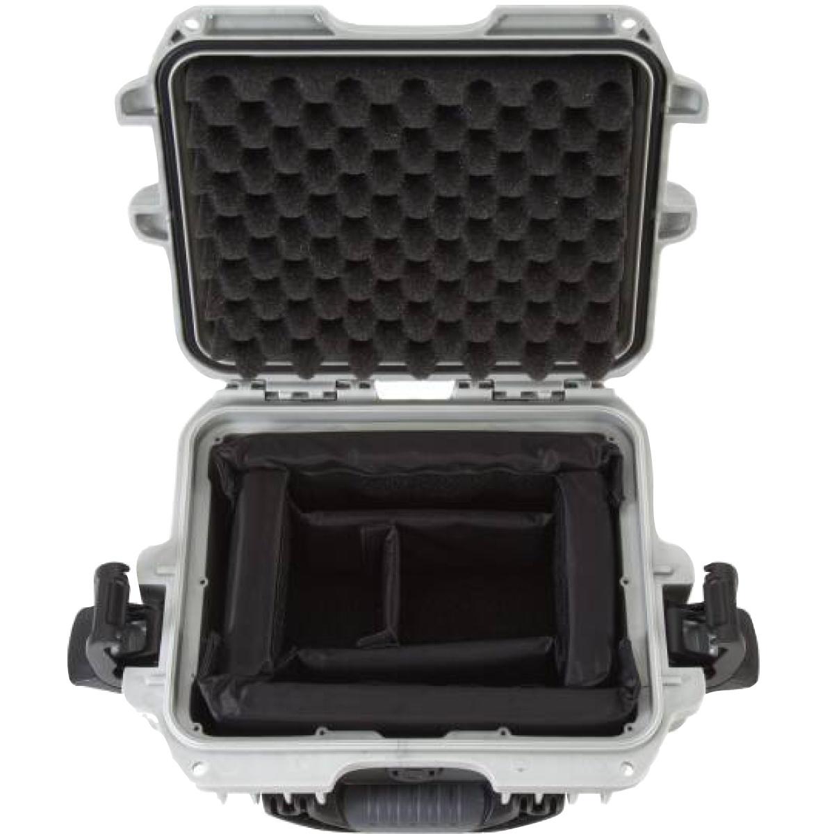 Nanuk Koffer 905 mit Trennwänden Silber