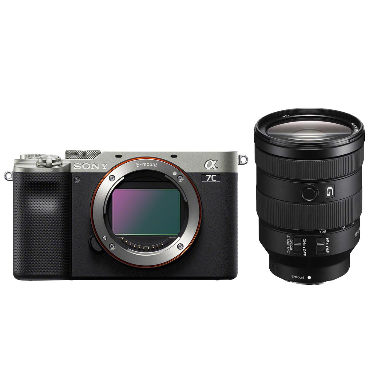 Sony Alpha 7C Silber + SEL 24-105mm 1:4,0 G OSS