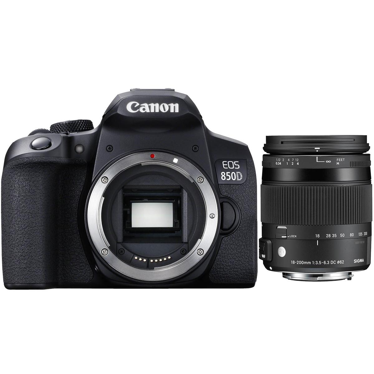 Canon EOS 850D + Sigma 18-200mm 3,5-6,3 DC Makro OS HSM C