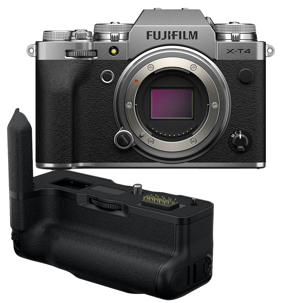 Fujifilm X-T4 Kit mit VG-XT4 Handgriff silber