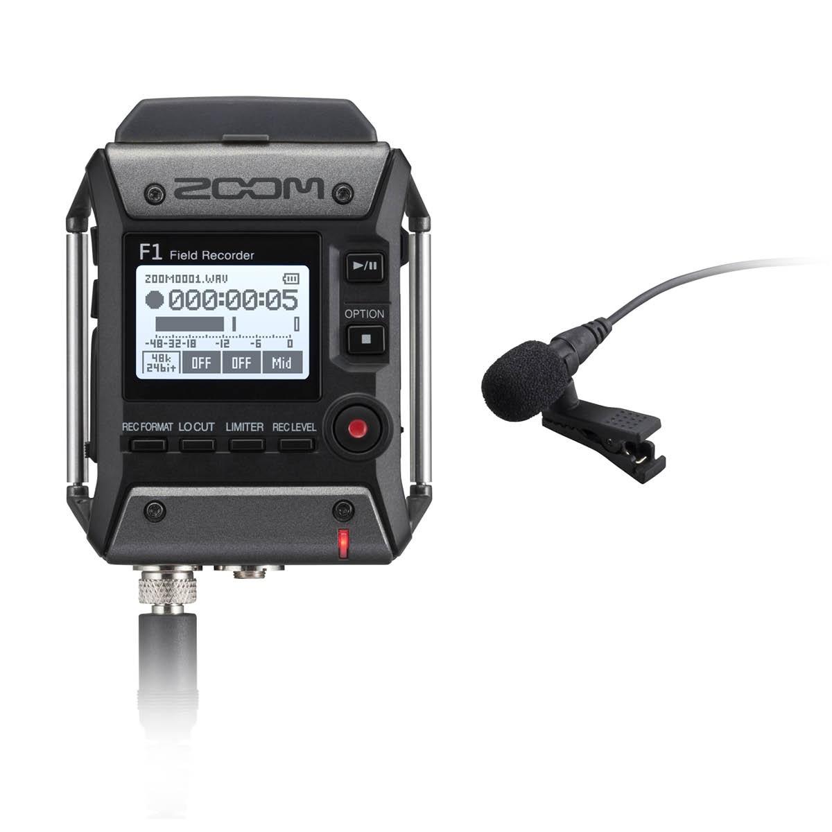 Zoom F 1 LP Recorder + Lavalier Mikrophon