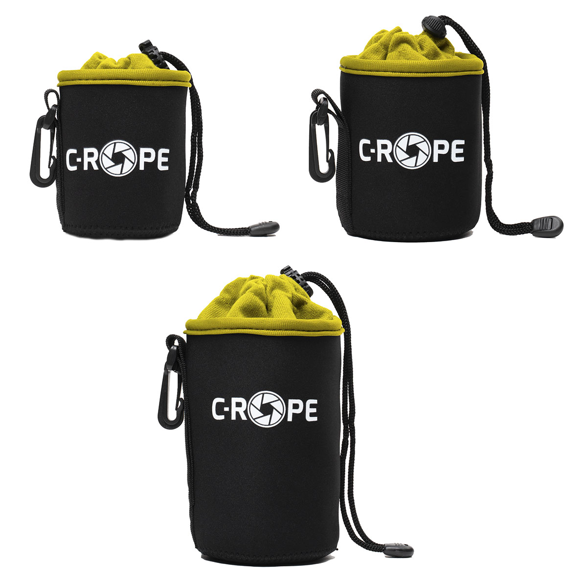 C-Rope Lenspouch schwarz Set XS/S/M
