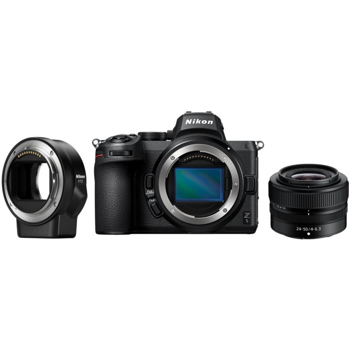 Nikon Z5 Kit mit 24-50 mm 1:4-6,3 + FTZ Adapter