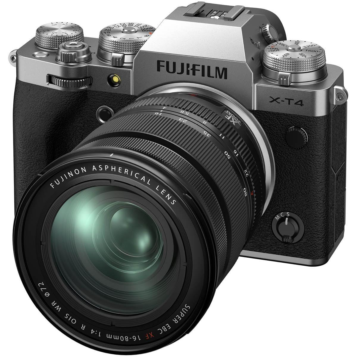 Fujifilm X-T4 Kit mit 16-80 mm 1:4,0 Silber