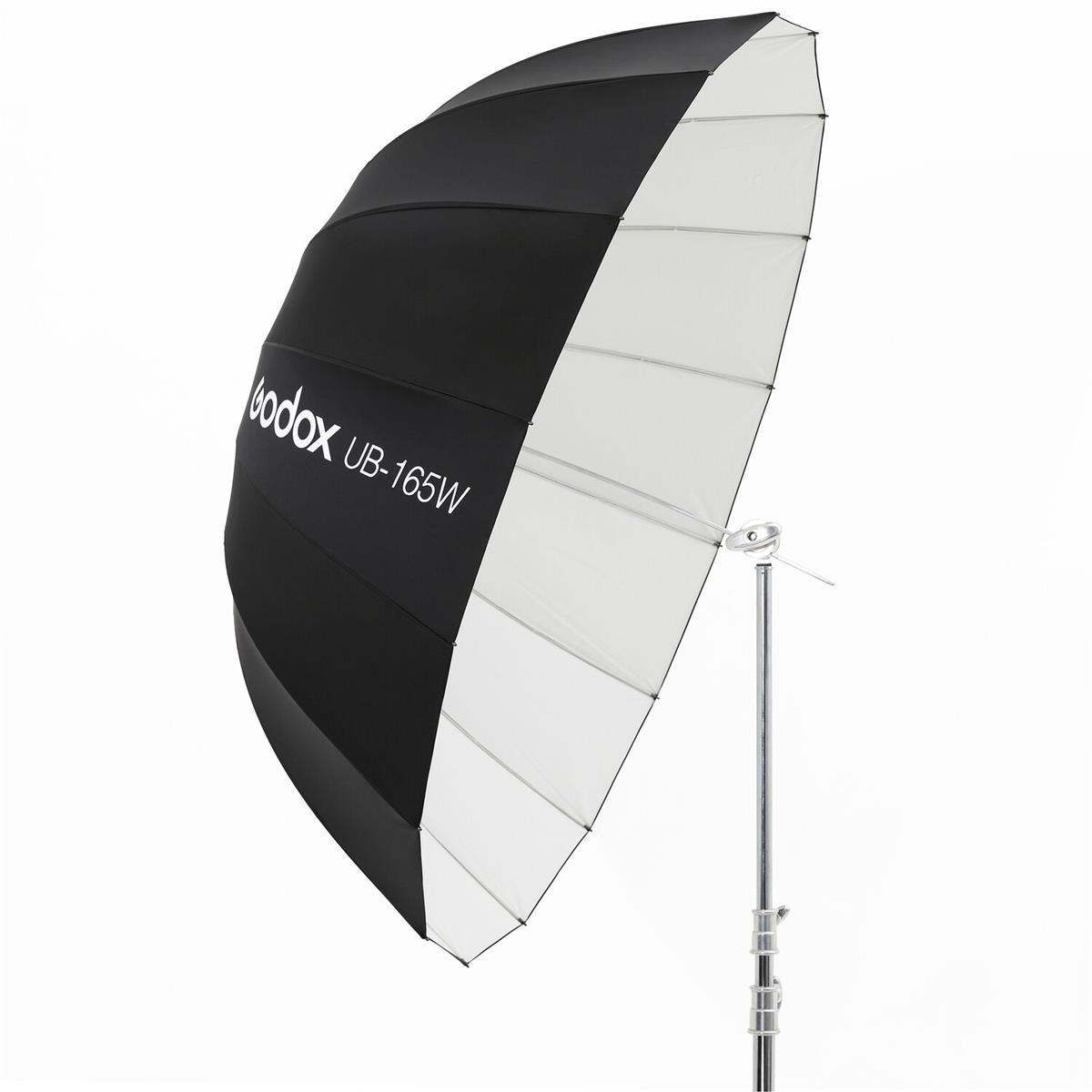 Godox 165 cm Parabolschirm Schwarz / Weiß UB-165W