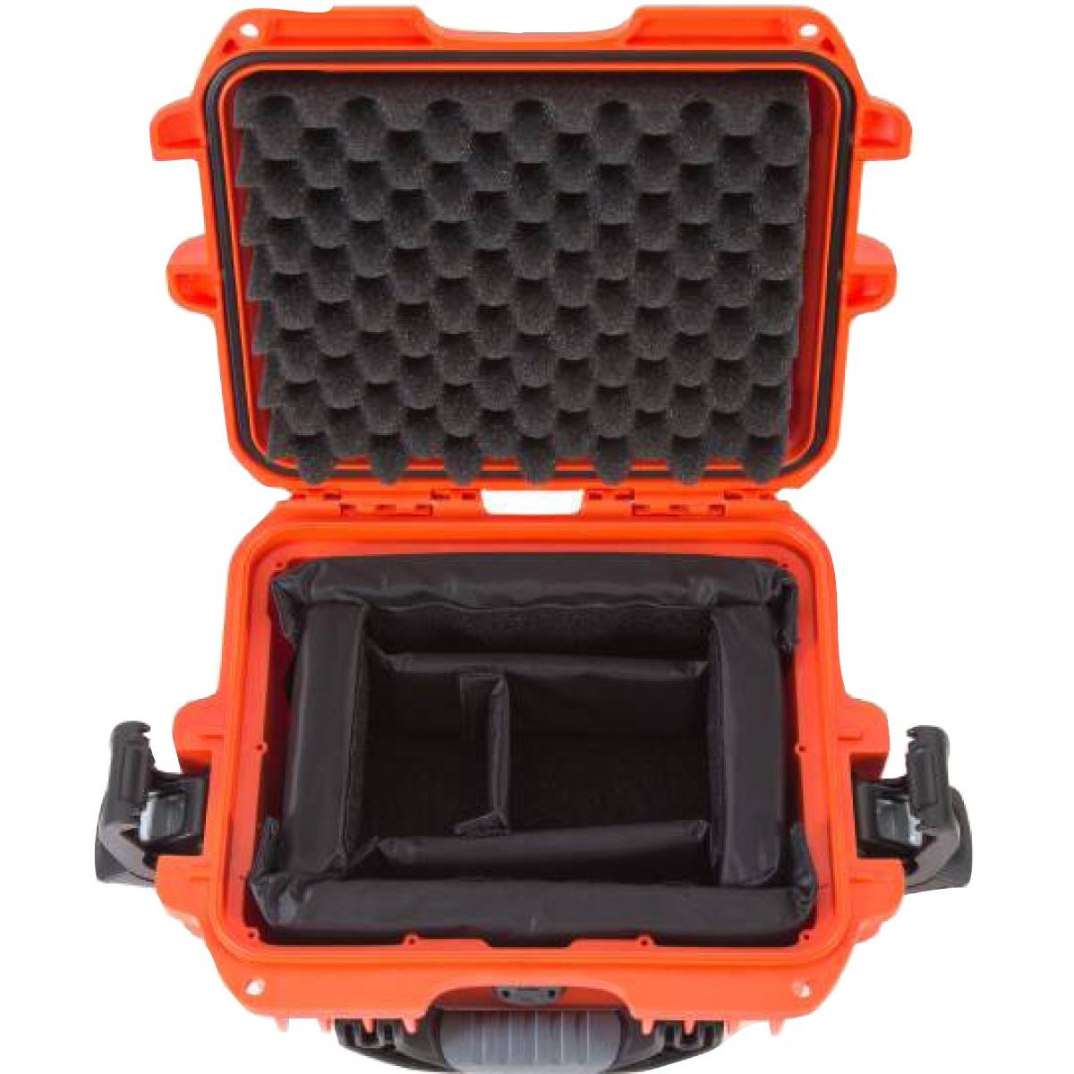 Nanuk Koffer 905 mit Trennwänden Orange